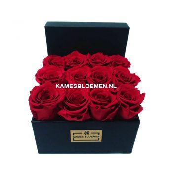 flowerbox longlife rozen bloemwerk kames bloemen. Black Bedroom Furniture Sets. Home Design Ideas